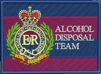 Royal Engineers Alcohol Disposal Team Embroidered Cap badge